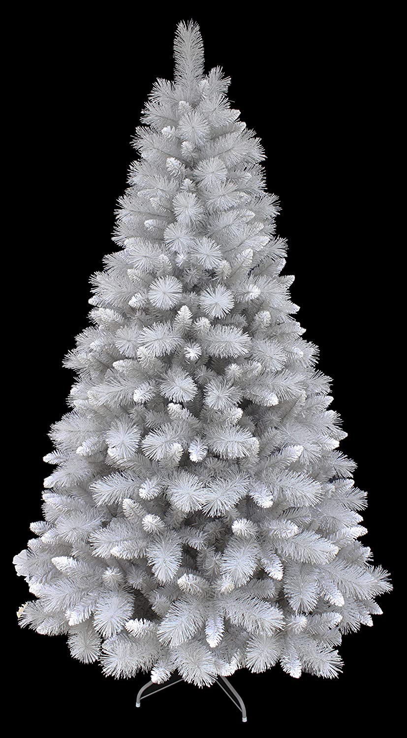 Glitter Silver Pine Small Christmas Tree with Frosted White Tips (5ft) Holiday Stuff Co.Inc