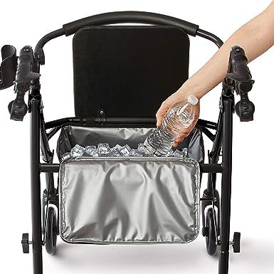 Amazon.com: Medline - Andador con ruedas y asiento, plegable ...