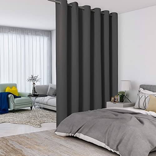 LORDTEX Dark Grey Room Divider Curtain