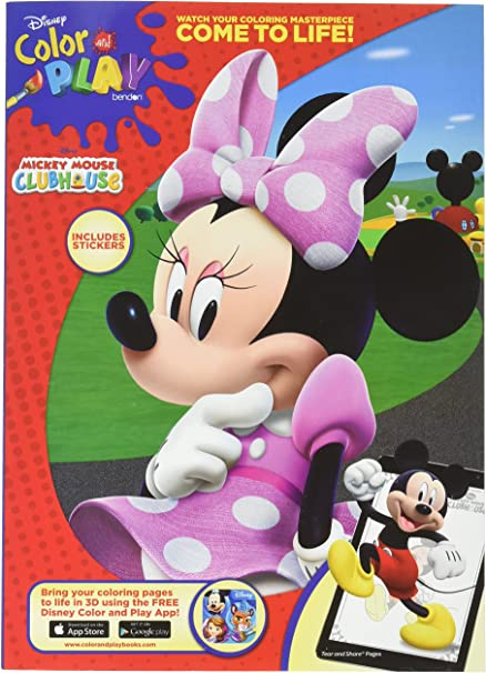 mickey mouse clubhouse color play come to life includes stickers