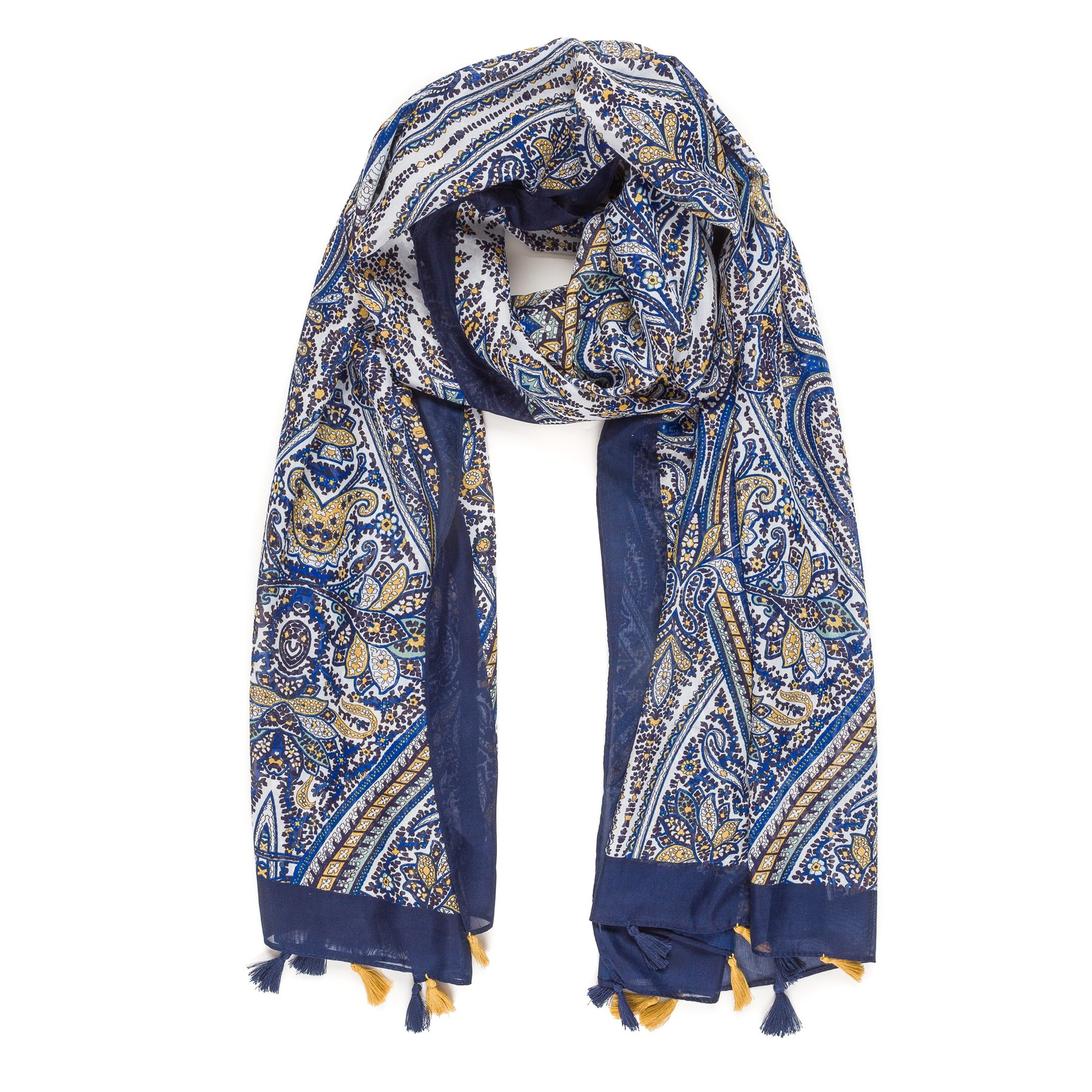 Scarf for Women Lightweight Paisley Fashion Fall Winter Scarves Shawl Wraps (B042-2)