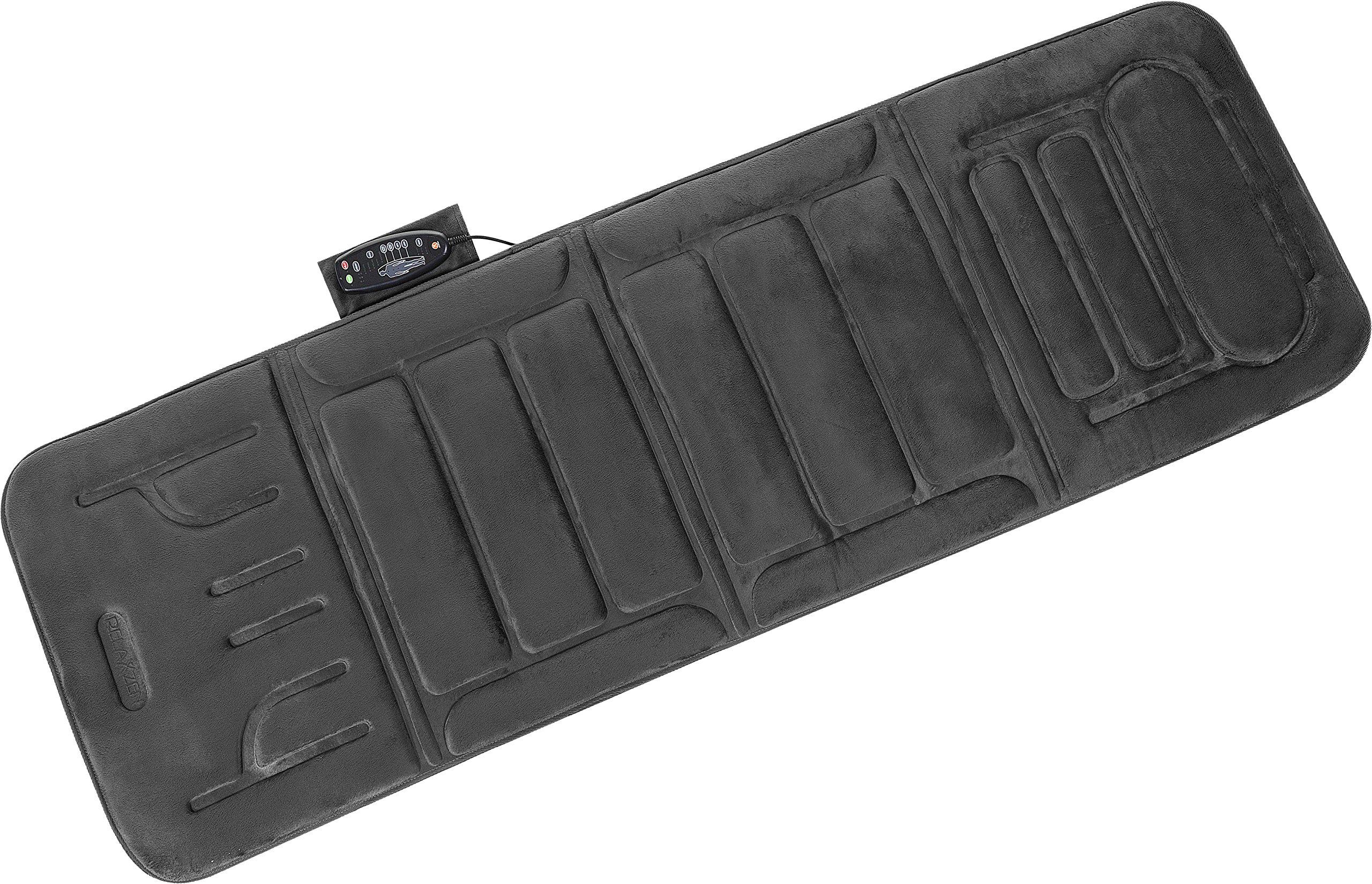 Relaxzen 10-Motor Massage Plush Mat with Heat and Extra Foam, Gray