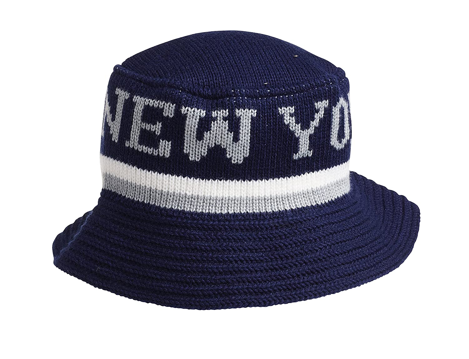 Amazon.com  Choas Brothers New York Wooly Bucket Hat (Navy)  Clothing 92d7af9b555