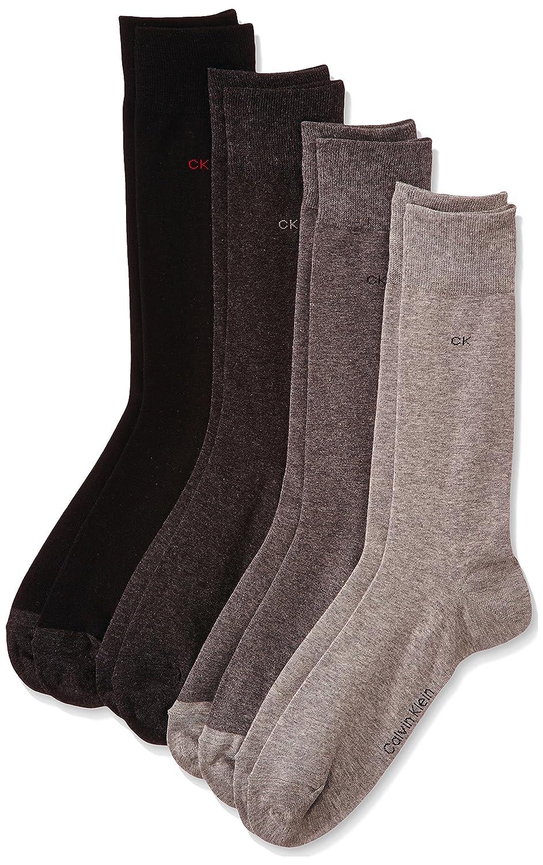 Calvin Klein Men's Ecu140 Calf Socks, 4 per pack,