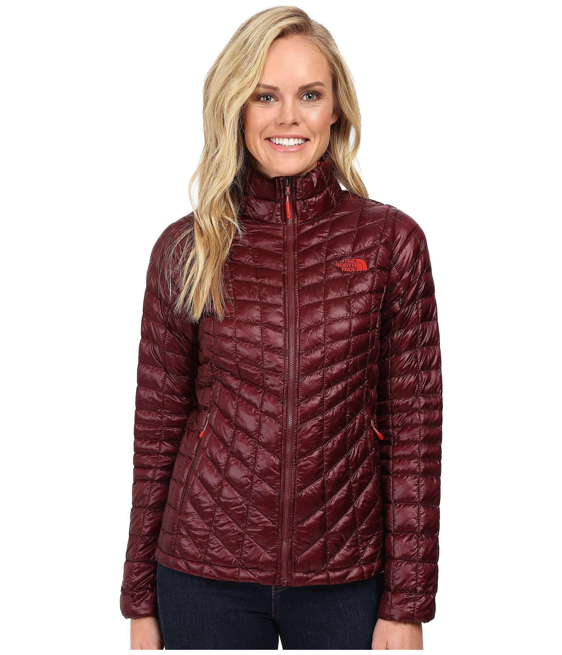 The North Face Women's Thermoball Full Zip Jacket, Deep Garnet Red, LG by The North Face