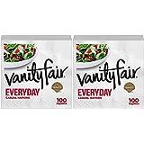 Vanity Fair Everyday Napkins, White - White - 100 ct - 2 pk