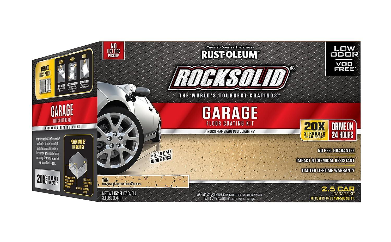 Rust-Oleum 293515 RockSolid Polycuramine 2.5 Car Garage Floor Kit, Tan