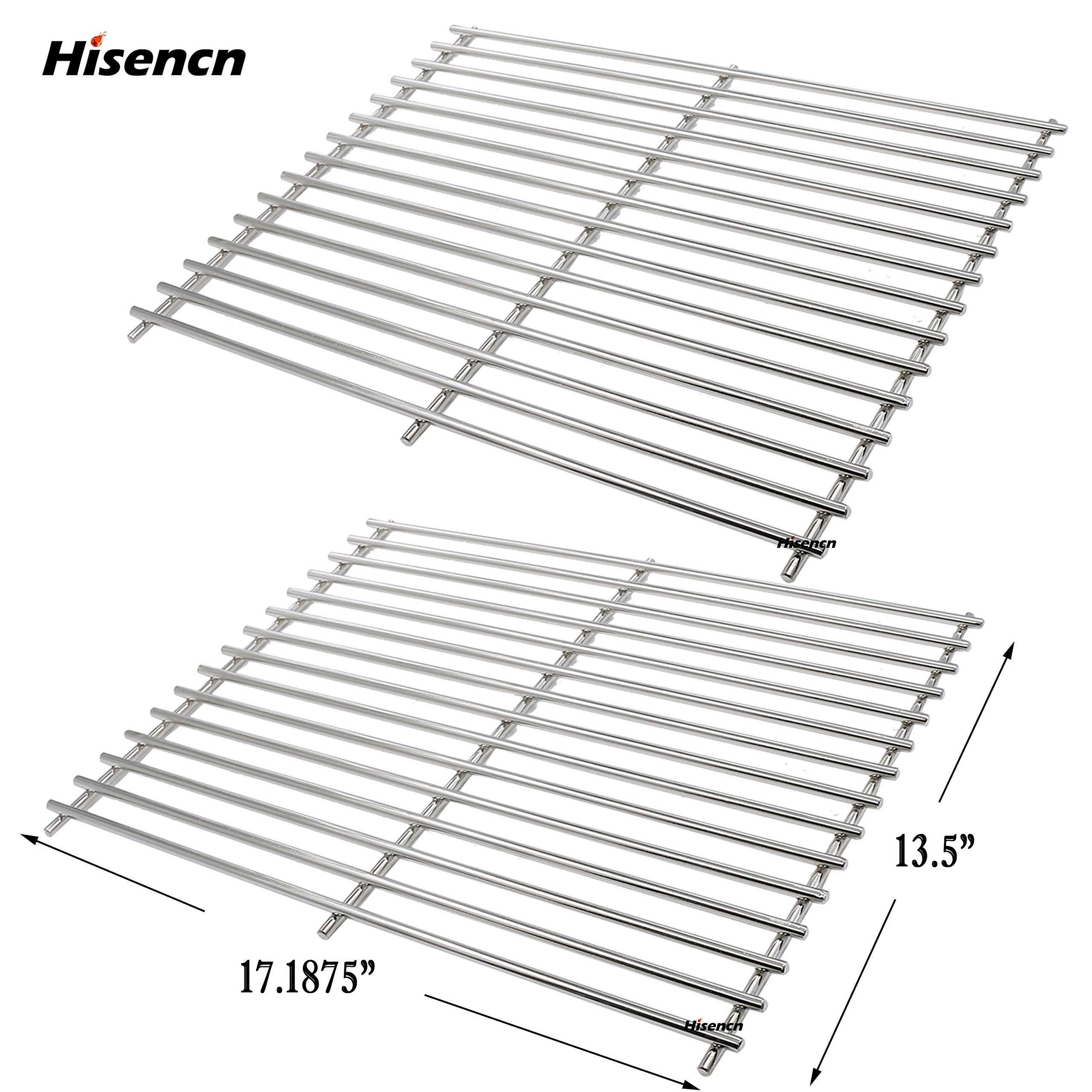 Hisencn Stainless Steel Solid Rod Replacement Parts Grill Grids Cooking Grates For Sunbeam, Nexgrill, Grill Master 720-0697 Gas Grill Cooking Grid Set of 2