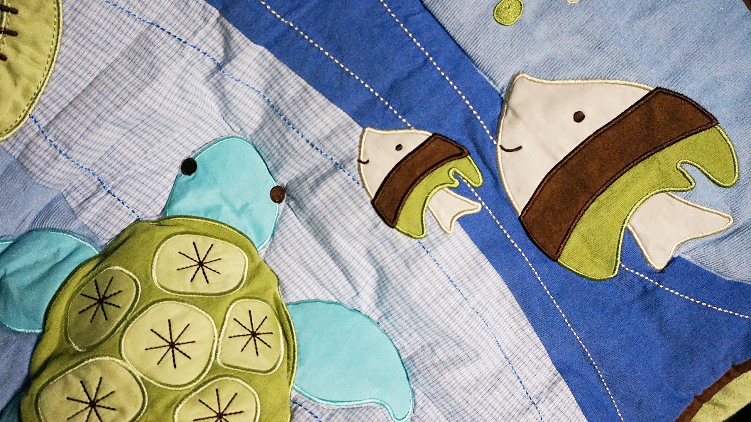Nojo - Sea Babies Applique Baby Crib Comforter only - Seahorse - Octopus TurtleHard to find