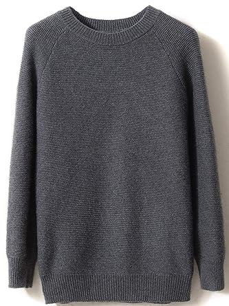 Auschecken Modestil unverwechselbares Design LinyXin Cashmere Damen Kaschmir Pullover Wolle Rundhals Langarm Freizeit  Winter Warm Pulli Sweater