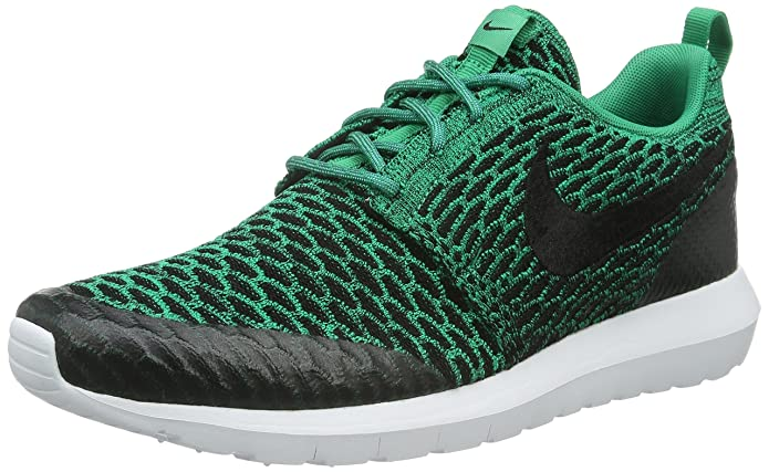 lowest price cc632 67c58 Nike Roshe NM Flyknit SE, Men s Competition Running Shoes, Green (Lucid  Green black-white), 12 UK (47.5 EU)  Amazon.co.uk  Shoes   Bags