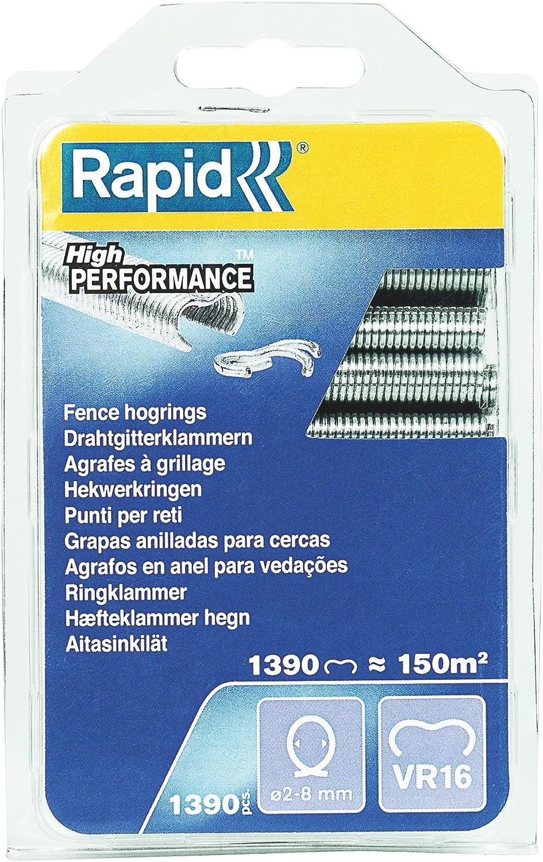 2-8 mm 1390 pièces Ref : 40108799 Agrafes De Grillage Galvanisées RAPID VR16
