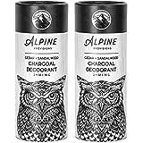Alpine Provisions Charcoal Deodorant, Cedar + Sandalwood, Pack of 2 (Plastic Free)