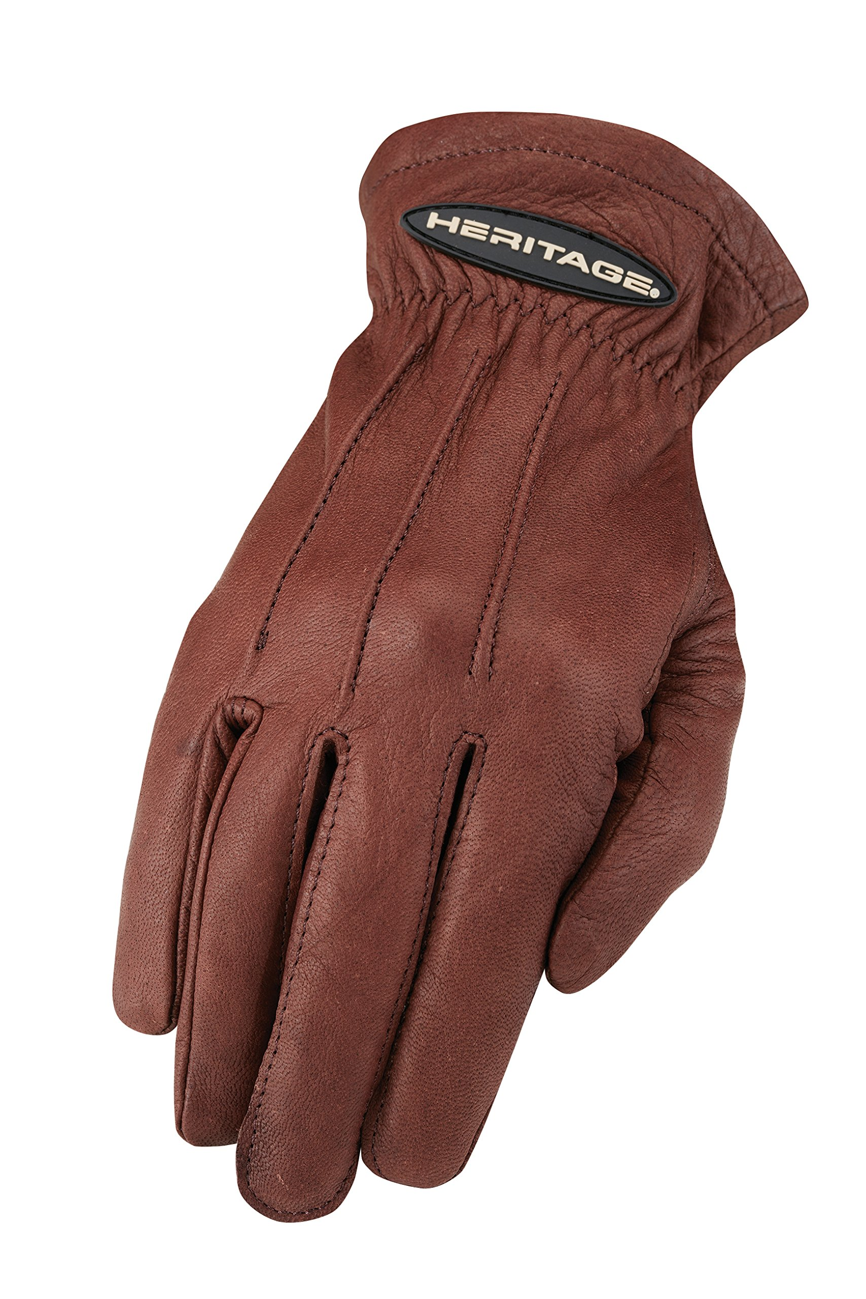 Heritage Trail Gloves, Size 9, Chocolate Brown