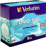 Verbatim 43285 DVD-RW 4.7GB 4 x 5 pack, Individually cased
