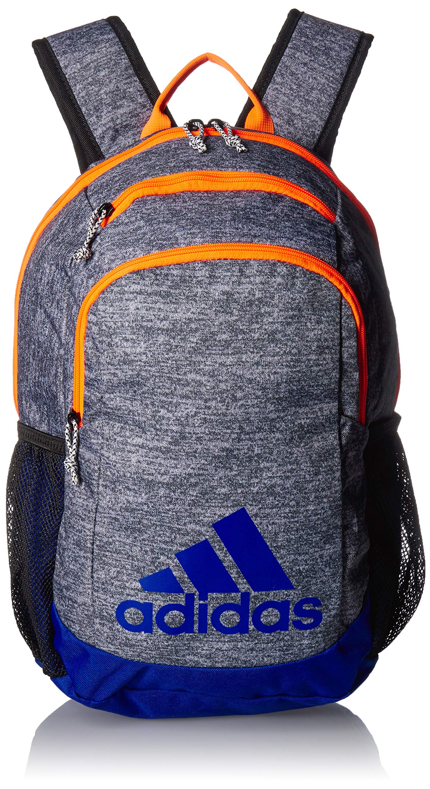 adidas Youth Kids-Boy's/Girl's Young Creator Backpack, Onix Jersey/Col. Royal/Solar Orange, 0 by adidas