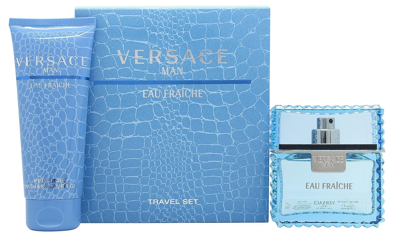 Versace Man Eau Fraiche by Versace for Men 2 Piece Set Includes: 1.7 oz Eau de Toilette Spray + 3.4 oz Perfumed Bath & Shower Gel 500071