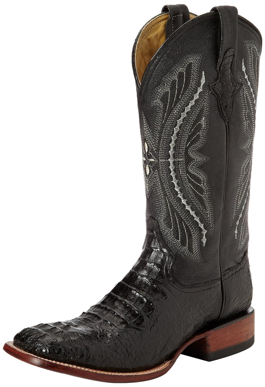 Ferrini Men's Genuine Caiman Crocodile s-Toe Western Boot