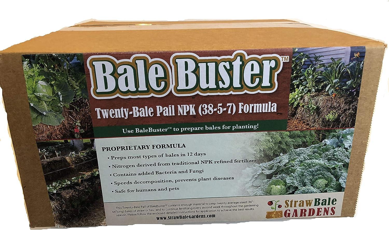 BaleBuster Straw Bale Gardening Twenty Bale Preparation kit Traditional Refined NPK Formulation 24 lbs (not Organic)
