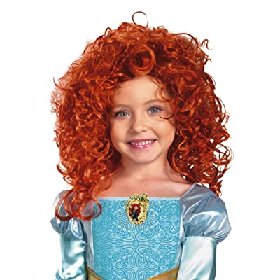 Brave Merida Wig, Red, One Size: Toys & Games