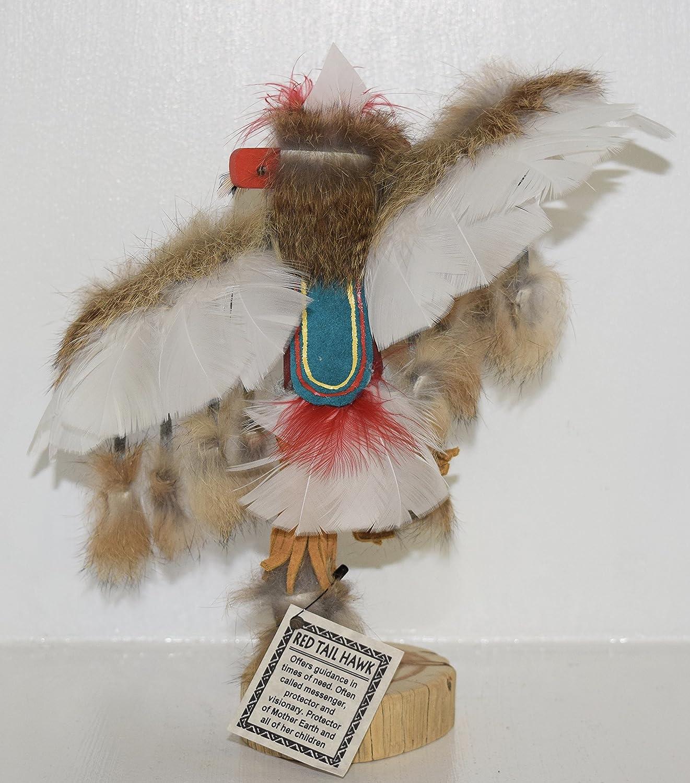 9 INCH Red Tail Hawk Kachina