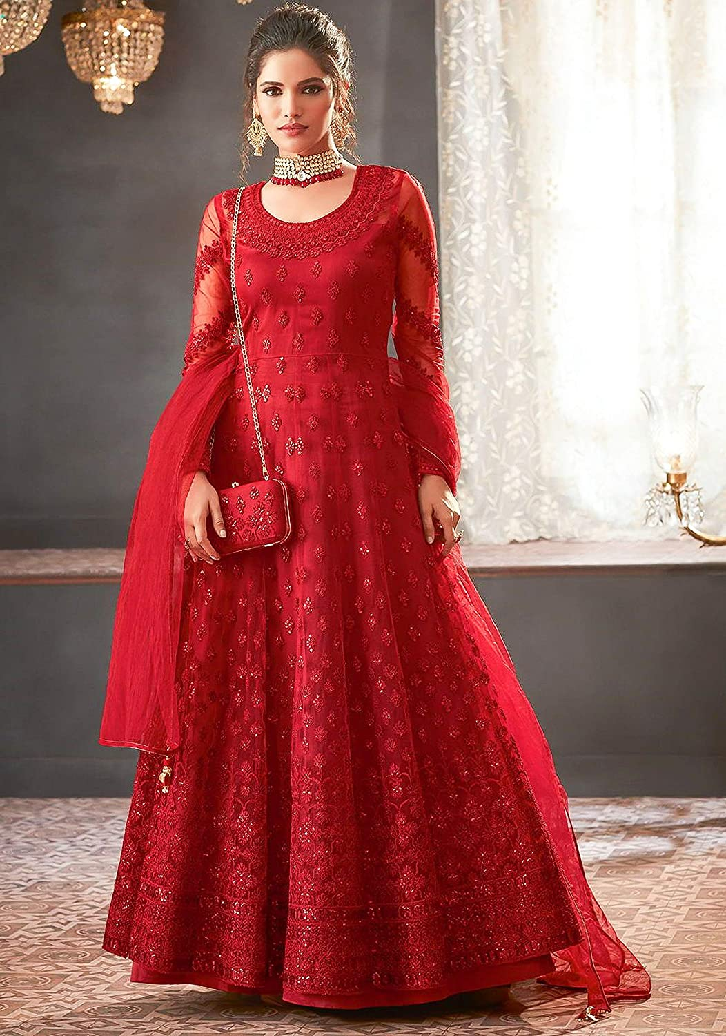 Fancy Lifestyle Net With Soft Silk  latest marriage dresses for ladies