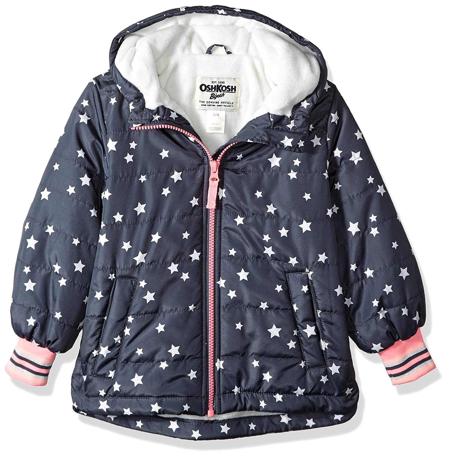 OshKosh B'Gosh Girls' Midweight Fleece-Lined Jacket Osh Kosh