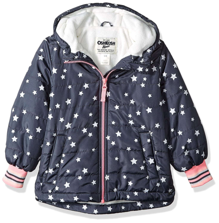 OshKosh B'Gosh Girls' Midweight Fleece-Lined Jacket Osh Kosh