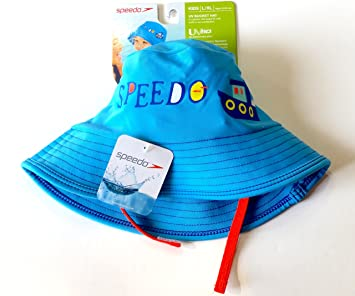 Speedo UV50+ Sun Protection Bucket Hat Kids Size L XL Ages 12-24 Months  (Sky Blue) fed1afd52196