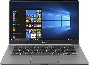 "LG gram Thin and Light Laptop - 14"" Full HD IPS Touchscreen Display, Intel Core i5 (7th Gen), 8GB RAM, 256GB SSD, 2.1 lbs, Back-lit Keyboard, Dark Silver - 14Z970"