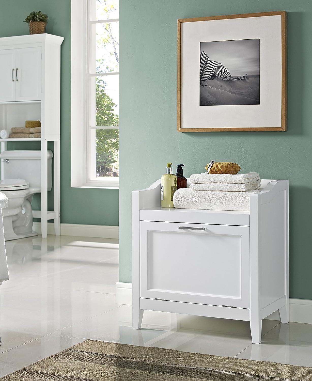 Amazon.com: Simpli Home Avington Storage Hamper Bench, White: Kitchen U0026  Dining
