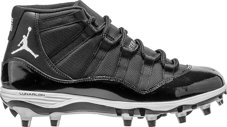 NIKE Jordan XI Retro TD Mens Football-Shoes AO1561 B00COM7T4M 13 D(M) US|Black/White/Metallic Silver