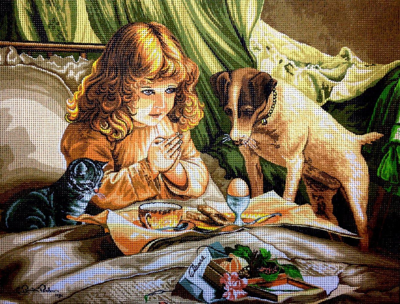 hudemas Needlepoint Kit Breakfast 15.7x11.8 40x30cm Printed Canvas 275