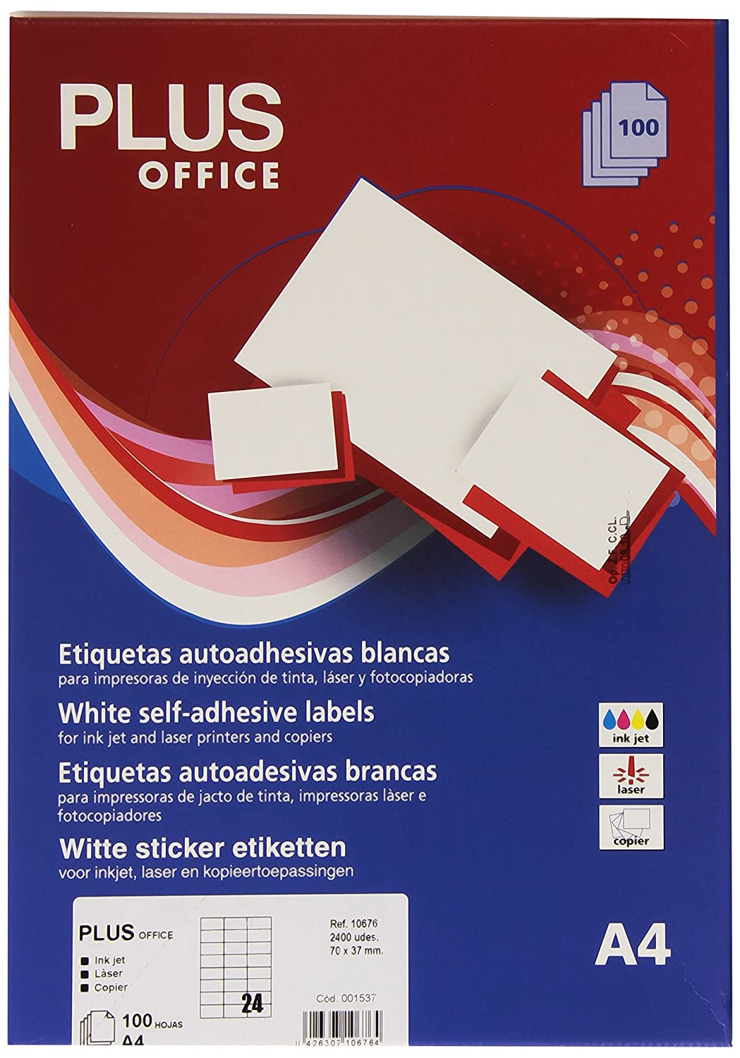 Amazon.com : Plus Office 10676 - Self-Adhesive Straight ...