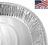 "Pactogo 12"" Aluminum Foil Pie Pan Extra-Deep"
