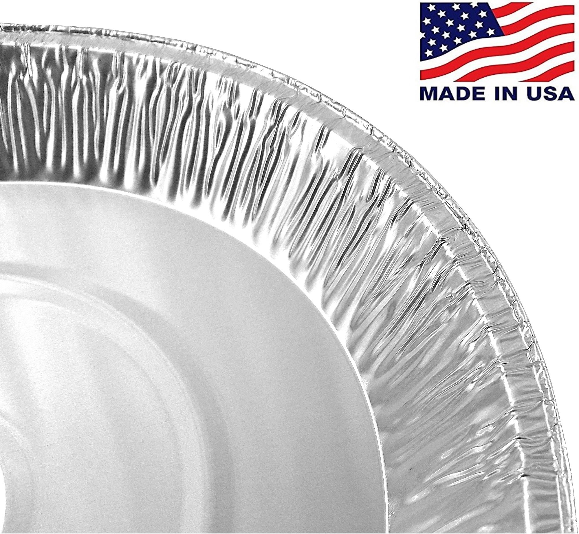 Pactogo 12'' Aluminum Foil Pie Pan Extra-Deep Disposable Tin Plates (Pack of 500) by PACTOGO (Image #2)