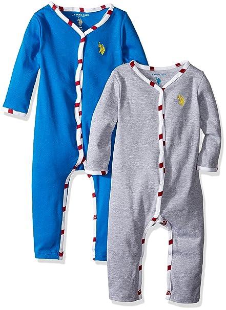 8c71224ee Amazon.com  U.S. Polo Assn. Baby Boys  2 Pack Sleep  N Play Set ...