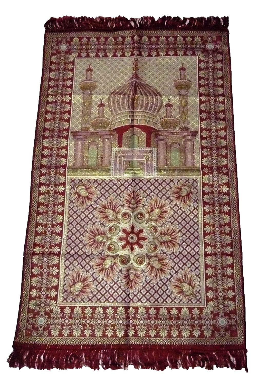 HDI Muslim Prayer Mat Lightweight Thin Istanbul Turkey Sajadah Carpet Islam Eid Ramadan Gift (Black) Muslim Rug HDI001