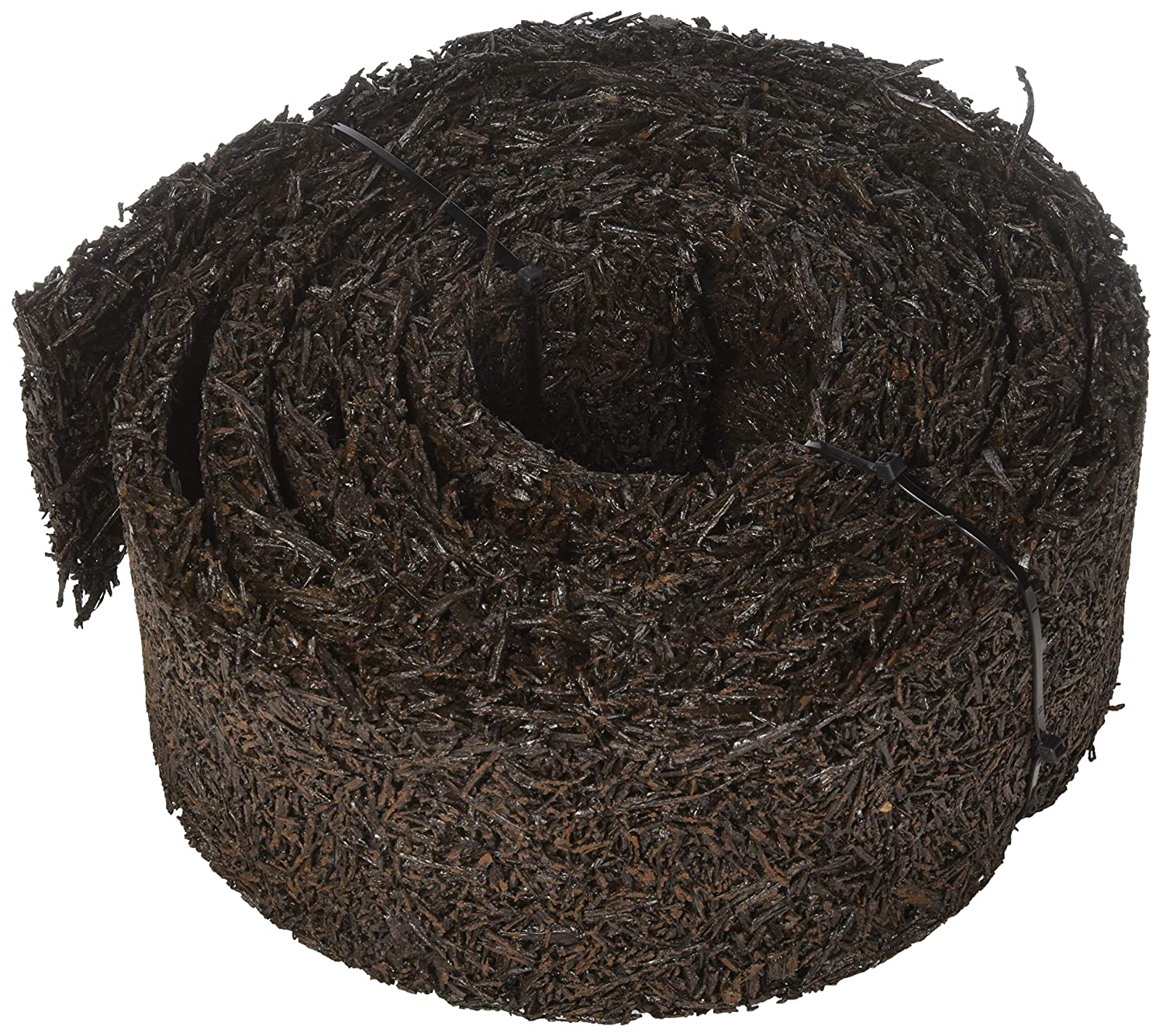 Plow & Hearth 55632 Recycled Rubber Permanent Garden Mulch Border, 120 L x 4.50 W (2 PACK)