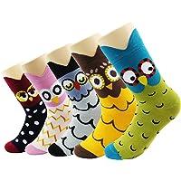 CityComfort Novedad calcetines de algodón Unicornio Buho Gato