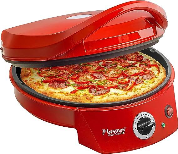 Bestron Horno Grill Eléctrico para Pizza, Viva Italia