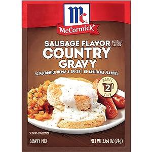 McCormick Sausage Flavor Country Gravy Mix, 2.64 oz