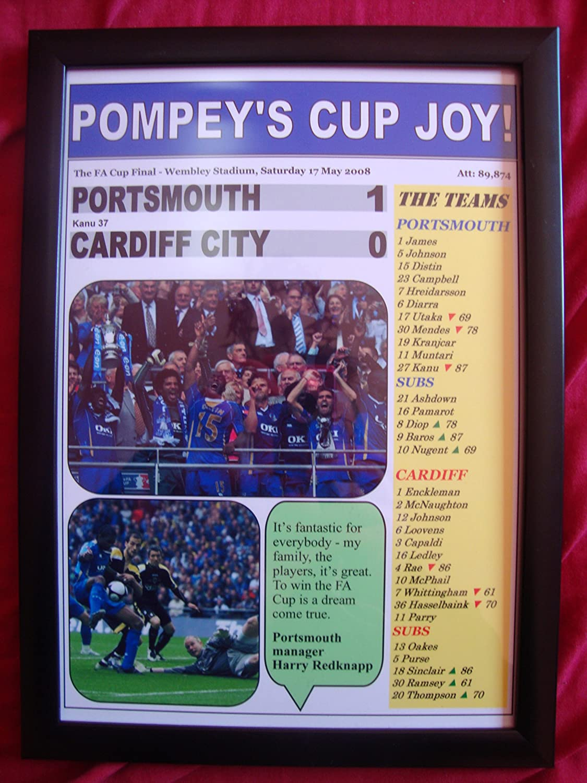 FA Cup 2008 Final Print Kanu Portsmouth FC Print