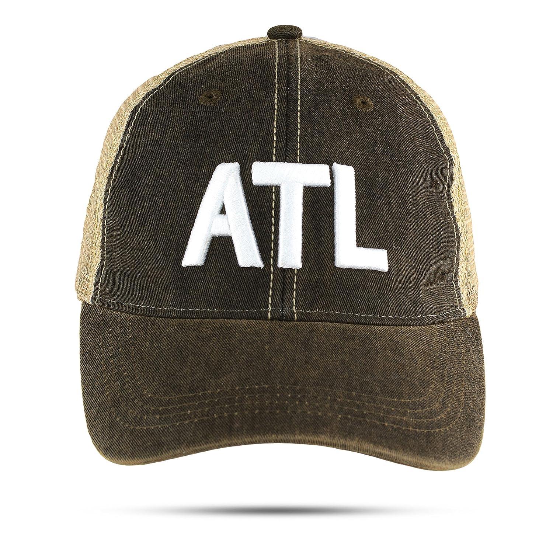 19b3fb59b ATL Trucker Hat Atlanta Airport Code Unstructured Baseball Cap Embroidered