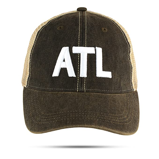 ae88a3c6656 Amazon.com  ATL Trucker Hat Atlanta Airport Code Unstructured ...