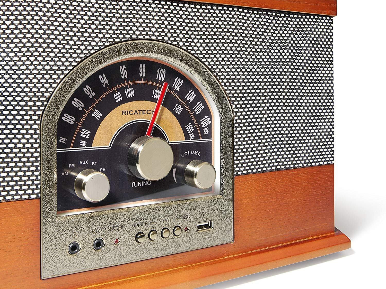 Ricatech RMC82 The Rebel - Sistema de música 4 en 1 (Madera ...