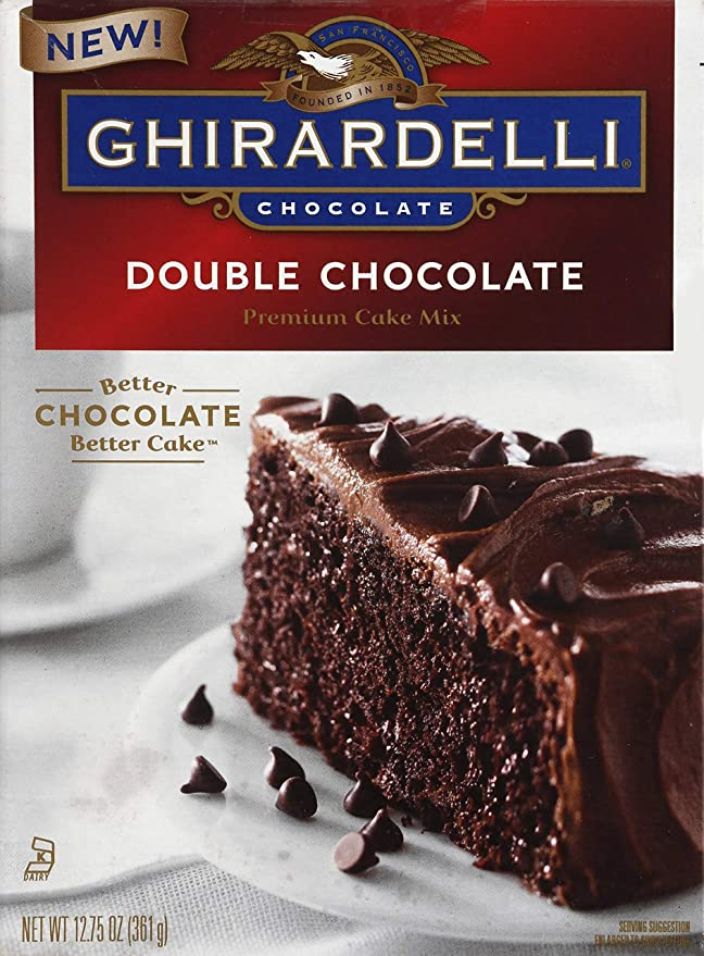 Amazon Com Ghirardelli Double Chocolate Cake Mix 12 75 Oz Grocery Gourmet Food