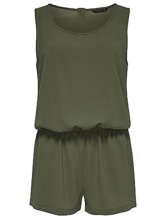 on sale 8954e 349c0 ONLY Damen Overall Jumpsuit NOVA LUX PLAIN S/L PLAYSUIT kurz ...