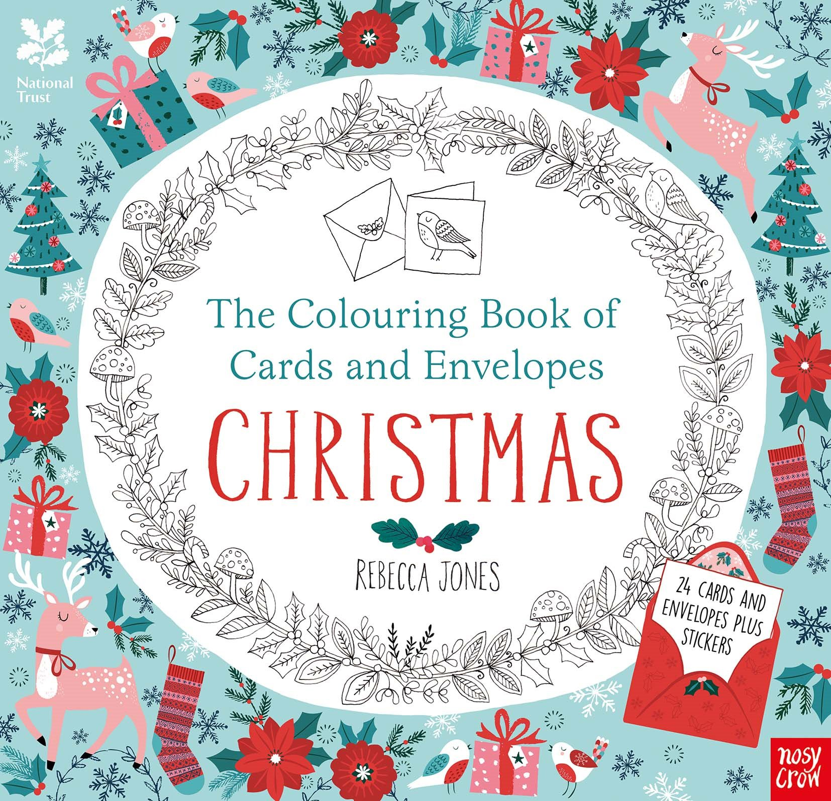 Read Online National Trust: The Colouring Book of Cards and Envelopes - Christmas (Colouring Books of Cards and Envelopes) pdf