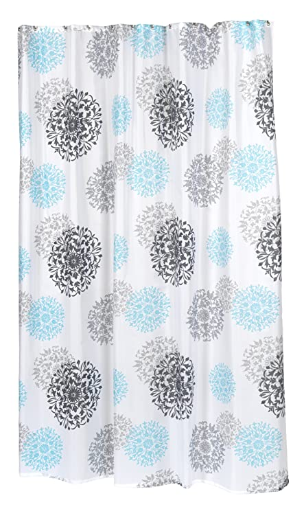 Carnation Home Fashions 100 Percent Polyester Fabric 70 By 84 Inch Shower Curtain